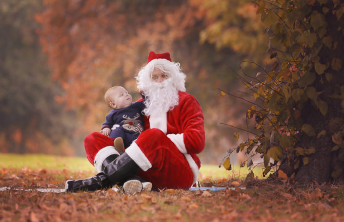 baby with santa shoot with santa
