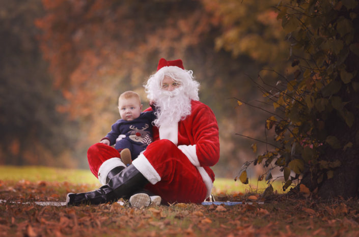 fat baby with santa photo