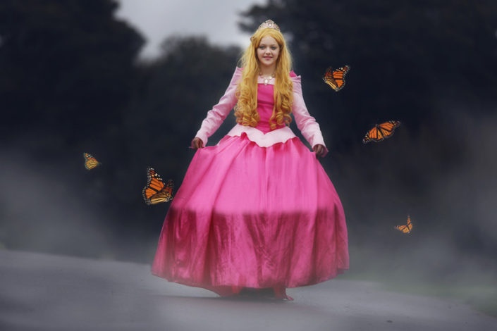 princess aurora inspired photoshoot