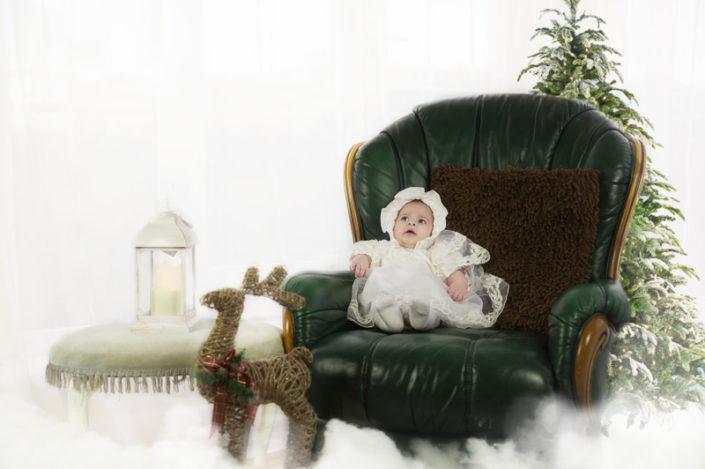 baby waiting for santa shoot