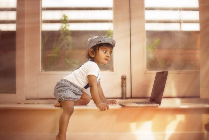 funny child usinglaptop happy child halifax