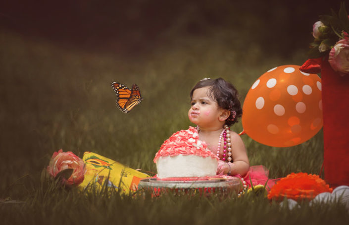 arpna photography baby with butterfly bangalore