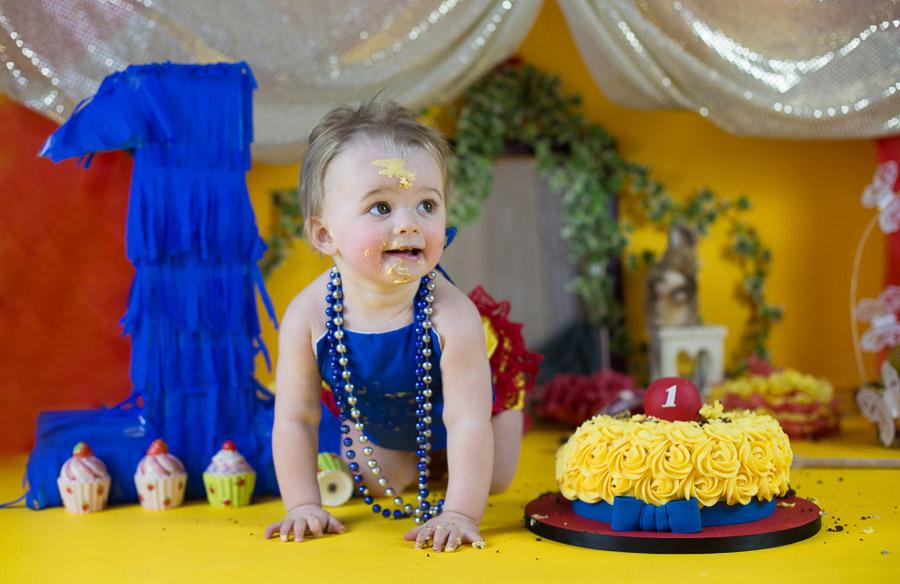 Baby Cake Smash Photography First Birthday Photoshoot In Bangalore