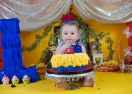 snow white theme cake smash photoshoot bangalore