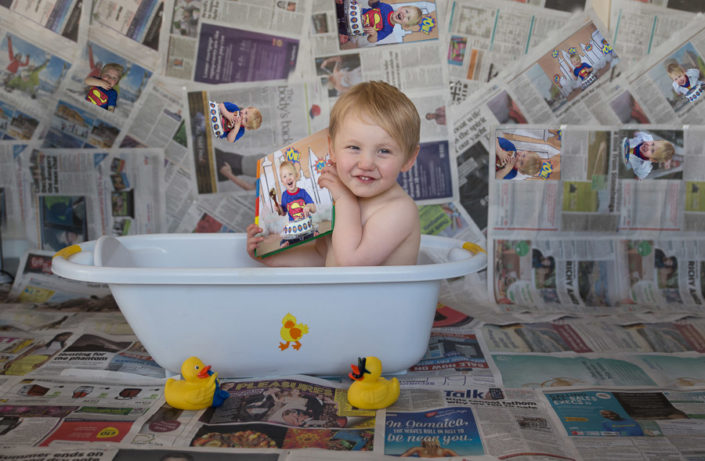 arpna photography baby in bath tub by top bangalore photographer