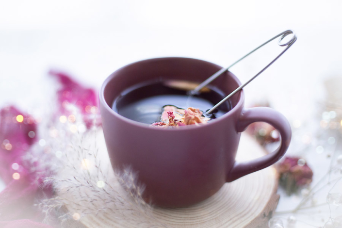 light airy food photo of tea